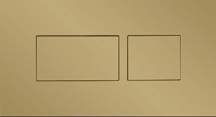 Britton Hoxton Dual Flush Plate Brushed Brass  [HOX030BB]