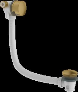 Britton Hoxton Overflow Bath Filler with Sprung Plug Waste - Brushed Brass [HOX0351BB]