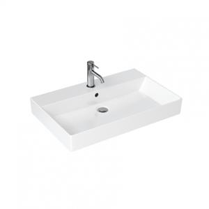 Britton Shoreditch Frame Basin 700 x 160h x 455mm. One tap hole - White [SHR017]