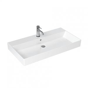 Britton Shoreditch Frame Basin 850 x 160h x 455mm. No tap hole - White [SHR018NTH]