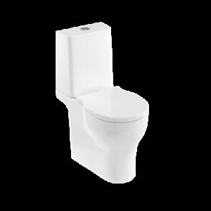 Britton Shoreditch Square Rimless Close Coupled WC Pan and Soft Close Seat - White [SHR048]
