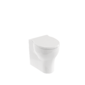 Britton Shoreditch Round Rimless Close Coupled WC Pan and Soft Close Seat - White [SHR044]