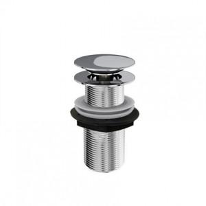 Britton Sprung plug basin waste - un-slotted - Chrome [W22]