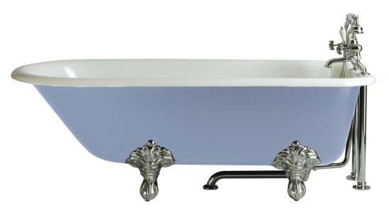 HERITAGE BRT00 1700mm Essex Cast Iron Single Ended Bath with No Tapholes