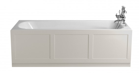 HERITAGE BRT1775S2TH 1700mm Sutherland Cast Iron Fitted Bath with 2 Tapholes