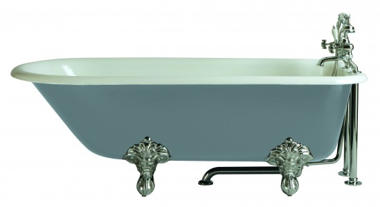 HERITAGE BRT20 1700mm Essex Cast Iron Single Ended Bath with 2 Tapholes