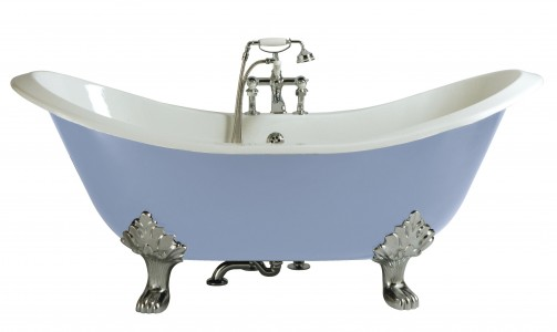 HERITAGE BRT44 1800mm Devon Cast Iron Double Ended Slipper Bath with No Tapholes