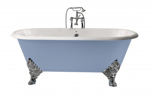 HERITAGE BRT86 1780mm Grand Buckingham Cast Iron Double Ended Bath with No Tapholes