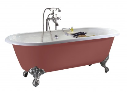HERITAGE BRT88 1540mm Baby Buckingham Cast Iron Double Ended Bath with 2 Tapholes
