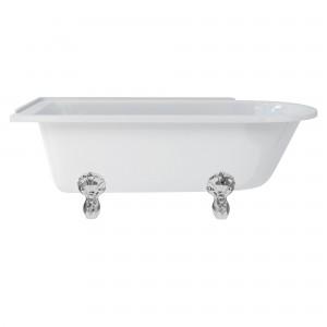 Burlington E13 Hampton Freestanding Shower Bath 1700 x 750mm Left Hand