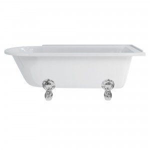 Burlington E14 Hampton Freestanding Shower Bath 1700 x 750mm Right Hand