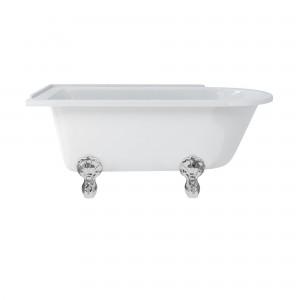 Burlington E20 Hampton Freestanding Shower Bath 1500 x 750mm Left Hand