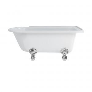 Burlington E21 Hampton Freestanding Shower Bath 1500 x 750mm Right Hand