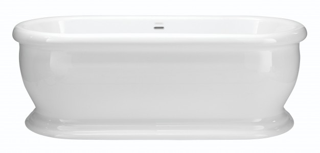 HERITAGE BVEFSW00 1745mm Derrymore Double Ended Roll Top Acrylic Bath - No Tapholes