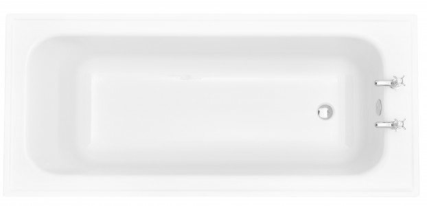 HERITAGE BVEW1880S 1800mm Victoria Super Deep Single Ended Fitted Acrylic Bath - 2 Tapholes