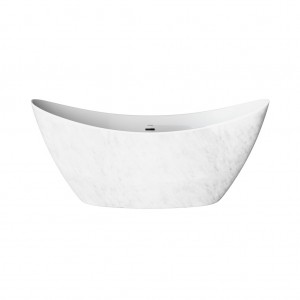 HERITAGE BWENFS00MBL 1730mm Wenlock Marble Effect Double Ended Acrylic Bath