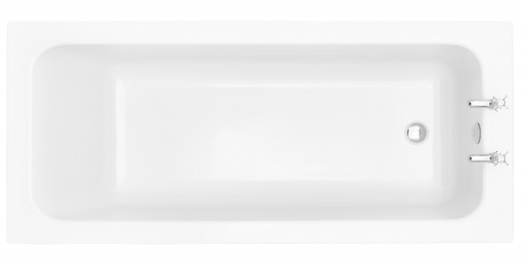 HERITAGE BWYW1775S 1775mm  Wynwood Single Ended Fitted Acrylic Bath - 2 Tapholes