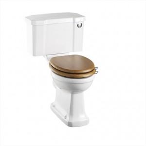 Burlington C2 Close Coupled & Low Level Cistern with Chrome Front Push Button Flush