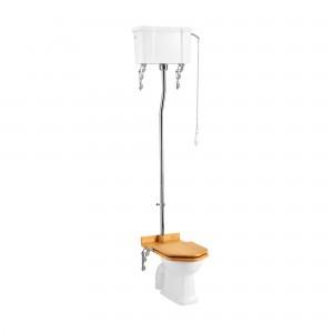 Burlington C28S High Level Single Flush Cistern with White Fittings
