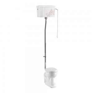 Burlington C28SBLOSS Bespoke Oriental Blossom High Level Single Flush Cistern with Fittings