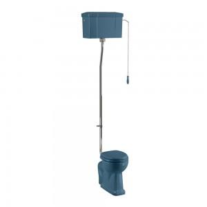 Burlington C28SBLUE Bespoke Alaska Blue High Level Single Flush Cistern with Fittings