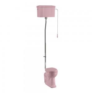 Burlington C28SPINK Bespoke Confetti Pink High Level Single Flush Cistern with Fittings