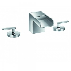 FLOVA Cascade 3-hole basin mixer with clicker waste set