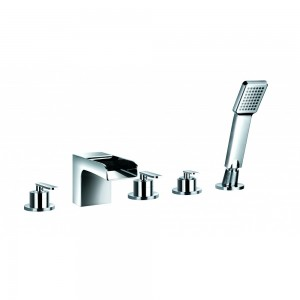 FLOVA Cascade 5-hole bath and shower mixer with shower set