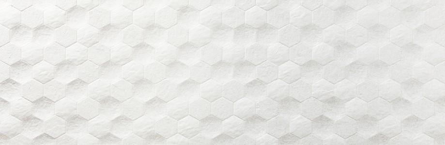 Craven Dunnill CDAZ144 Causeway Wall Tile 890x290mm - Hexagon Blanco [Pack Quantity 100]