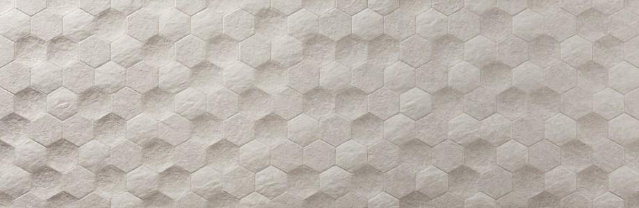 Craven Dunnill CDAZ145 Causeway Wall Tile 890x290mm - Hexagon Marfil [Pack Quantity 100]