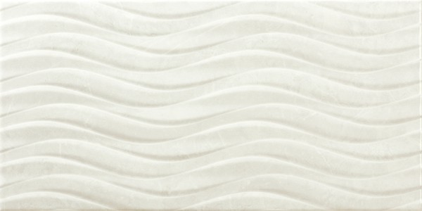 Craven Dunnill CDAZ183 Dorchester Wall Tile 600x300mm - Bend Blanco [Pack Quantity 100]