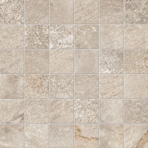 Craven Dunnill CDIM245 Dura Quartz Glazed Wall Tile 300x300mm - Beige Mosaic [Pack Quantity Single]
