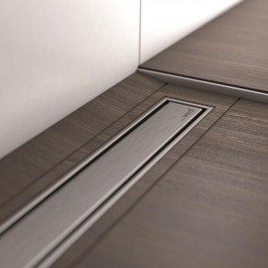 Fundo Channel Cover - Channel length 1100 mm - Brushed Stainless Steel  [676900029]