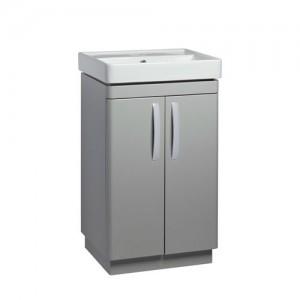 Tavistock CM500FG Compass 50cm Floorstanding Vanity Unit with Doors - Grey