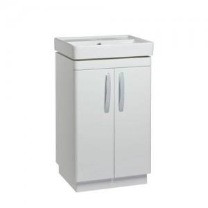 Tavistock CM500FW Compass 50cm Floorstanding Vanity Unit with Doors - White