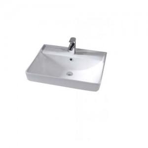 Tavistock Compass Basin 60 x 8h x 42cm. One tap hole - White [CM600C]