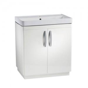 Tavistock CM800FW Compass 80cm Floorstanding Vanity Unit with Doors - White