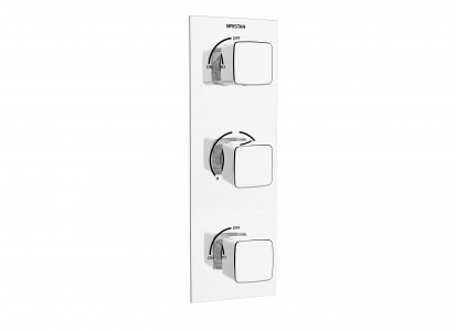 BRISTAN Cobalt Thermostatic Recessed Dual Control Shower Valve with Integral Twin Stopcocks Chrome