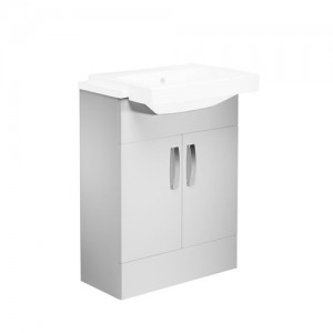 Tavistock CR6FW Courier 60cm Basin Unit - Gloss White