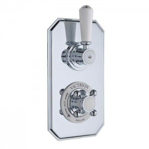 BC Designs CSA020 Victrion Twin Concealed Shower Valve - Chrome