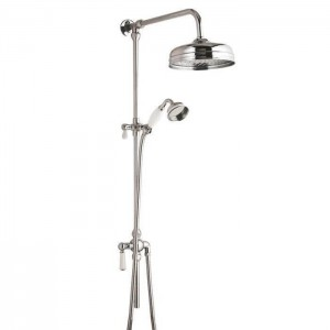 BC Designs CSB120 Victrion Superbe Fixed Riser Kit with 8 inch Fixed head - Chrome