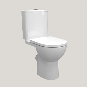 Imex Ceramics CT10176AR Ivan Rimless Short Projection Open Back Close Coupled WC Pan
