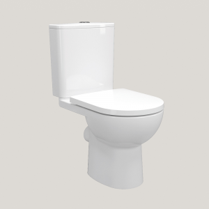 Imex Ceramics CT10176R Ivan Rimless Short Projection Open Back Close Coupled WC Pan