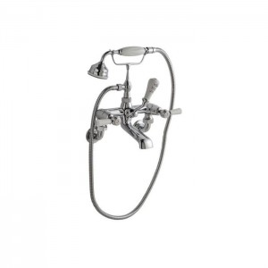 BC Designs CTB121 Victrion Wall Mounted Lever Bath Shower Mixer - Chrome