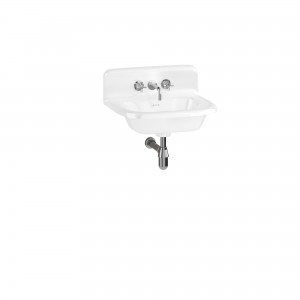 Clearwater B7EUPS Roll Top Basin with Overflow & Up-Stand (Small) 550 x 470mm 0TH White
