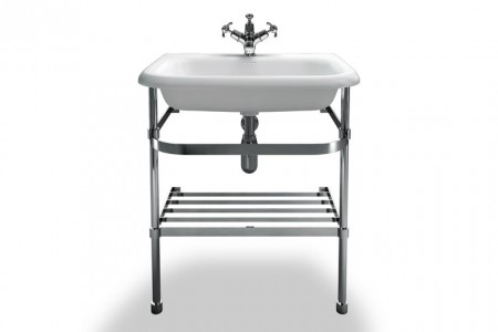 Burlington & Clearwater B8ES Washstand for Roll Top Basin (Medium) 870 x 625mm Stainless Steel