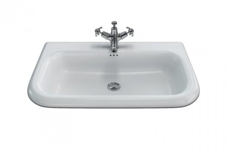 Burlington & Clearwater B9E Roll Top Basin with Overflow (Large) 750 x 470mm 0TH White