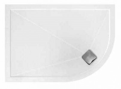 TMUK Elementary - Offset Quadrant - 1100 x 800mm Right Hand - White  [D251100X800QRH]