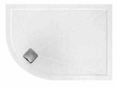 TMUK Elementary Anti-Slip - Offset Quadrant - 1100 x 800mm Left Hand - White Anti-Slip  [DAS1100X800QLH]