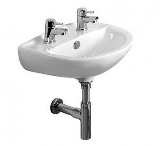 Tavistock DB145S Micra Pedestal Basin 450 x 370mm 2 Tapholes White